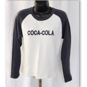 Coca-Cola Long Sleeve Waffle Knit Top